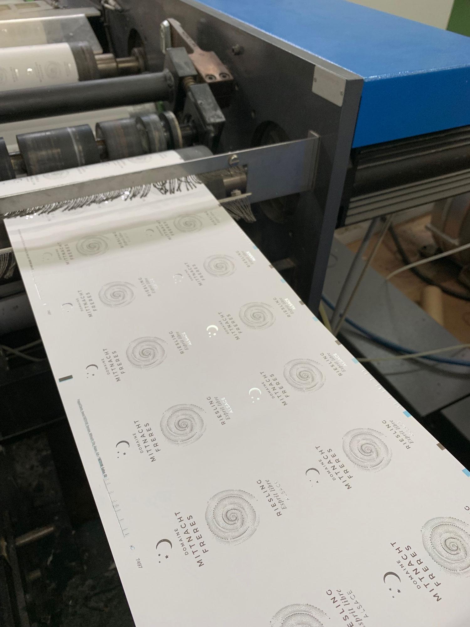 imprimerie étiquette riesling esprit libre